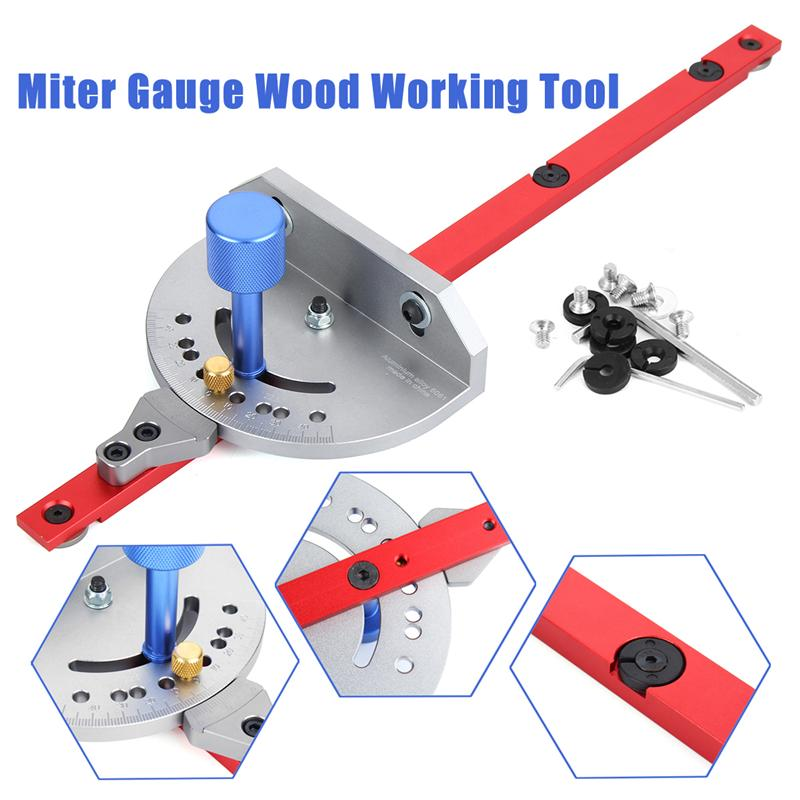 1Pcs Miter Gauge Wood Working Tool For Bandsaw Table Saw Router Angle Miter Gauge Guide Fence Woodworking Machinery Parts in Woodworking Machinery Parts from Tools