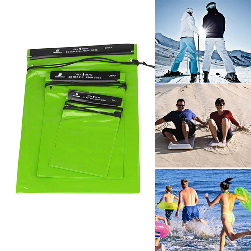 3Pcs/Set Outdoor Swimming Waterproof Bag Camping Rafting Storage Dry Bag With Adjustable Strap Hook