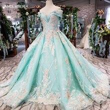 HTL154G1 convenzionale colore del vestito off spalla dellinnamorato di applique del merletto vestito da sera lungo del vestito della sposa partito kleider damen abendkleid