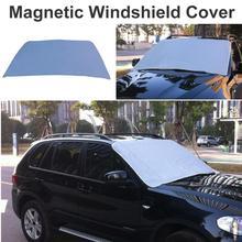 Защитный чехол на лобовое стекло автомобиля, магнитный щит, защита от дождя, морозостойкость, защита от снега, антифриз, Композитный хлопок, утолщенный чехол