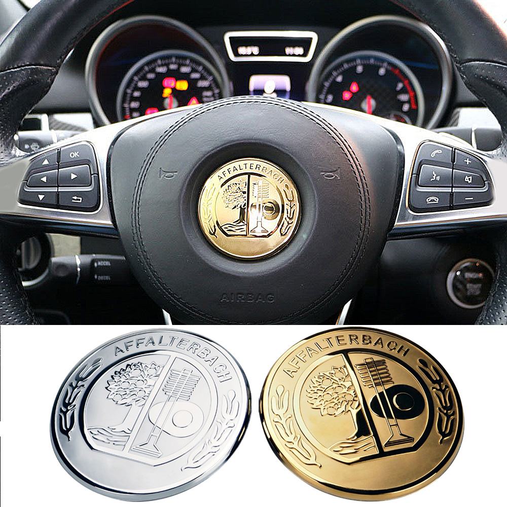1-20 pcs Apple Tree Badge Steering Wheel Cover Trim Logo Sticker For <font><b>Mercedes</b></font> Benz AMG A E ML SL Class <font><b>W201</b></font> W203 W203 W204 W123 image