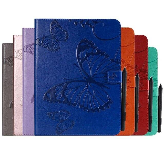 Тисненая бабочка из искусственной кожи чехол для samsung Tab A 10,1 2019 SM-T510 SM-T515 T510 T515 чехол с отделением для карт чехол для планшета + пленка + ручка