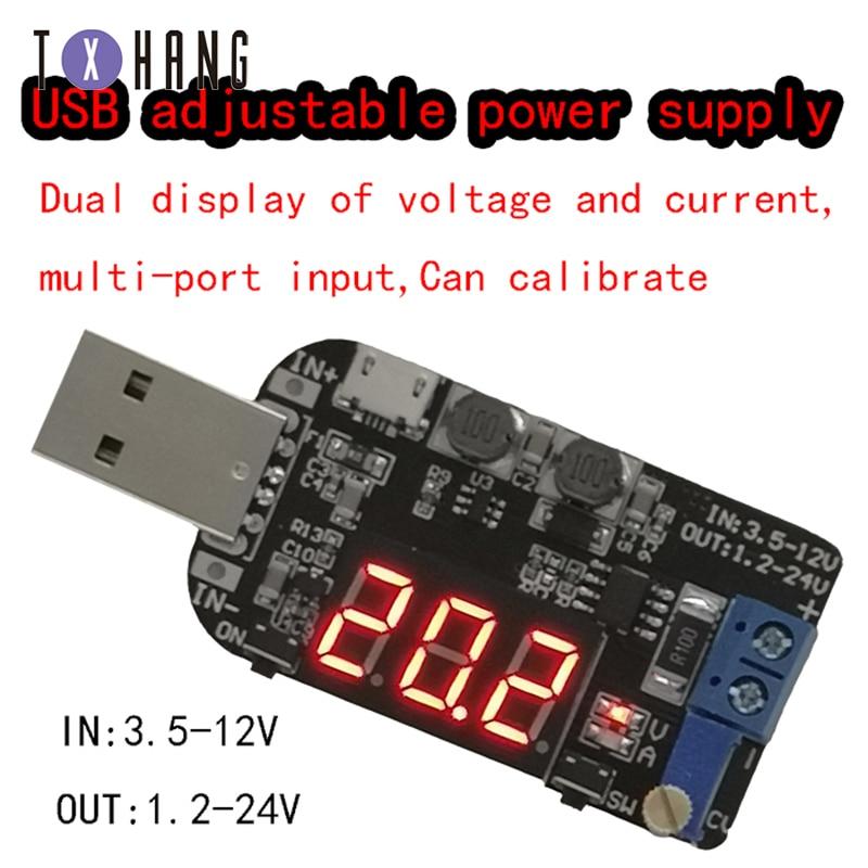 3W Einstellbare Potentiometer DC-DC CC CV USB 5V zu 3,3 V 9V 12V 24V Step Up /unten Power Versorgung Boost Buck Power Converter Modul