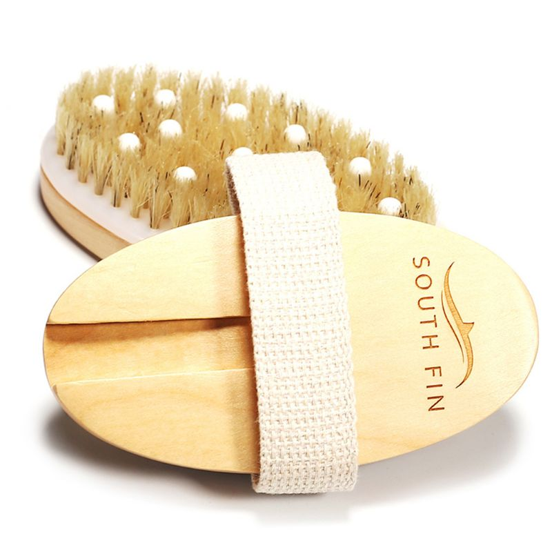 Health-Massage-Tools Dead-Skin-Remover Skin-Body-Brush Exfoliates Anti-Cellulite Natural-Bristle