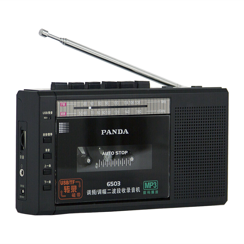 New Retro Portable FM Stereo <font><b>Radio</b></font> AM FM Two-band <font><b>Radio</b></font> Power Digital Receiver <font><b>Radio</b></font> Station Mini Speaker Support TF Family Gift image