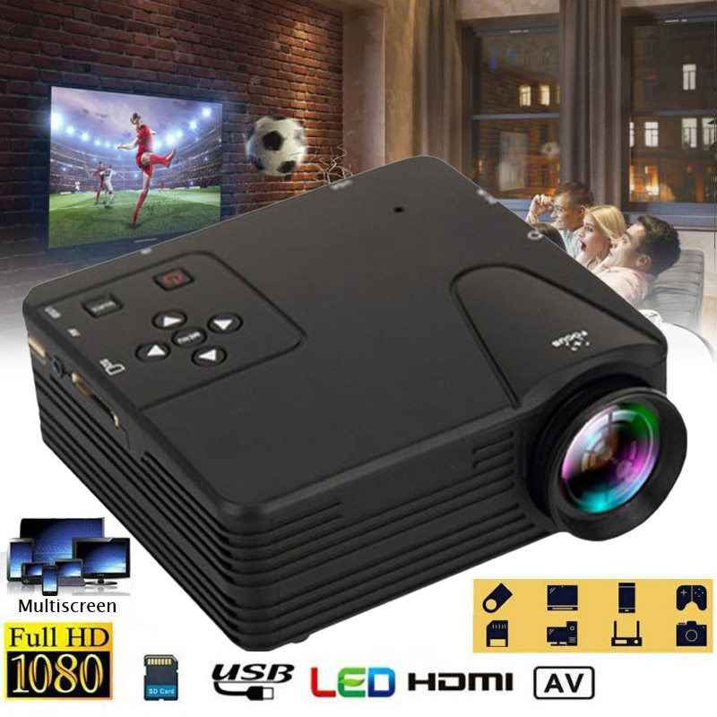 1080P LED Mini Projector 12V 24W USB Audio Portable Projector Home Media Video Outdoor player Theater Cinema Multimedia