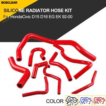 9pcs Silicone Radiator Hose Kit For Honda Civic D15 D16 Sohc Eg/Ek 1992-2000 Auto UV Proof Tube Radiator Hose Kit black blue red