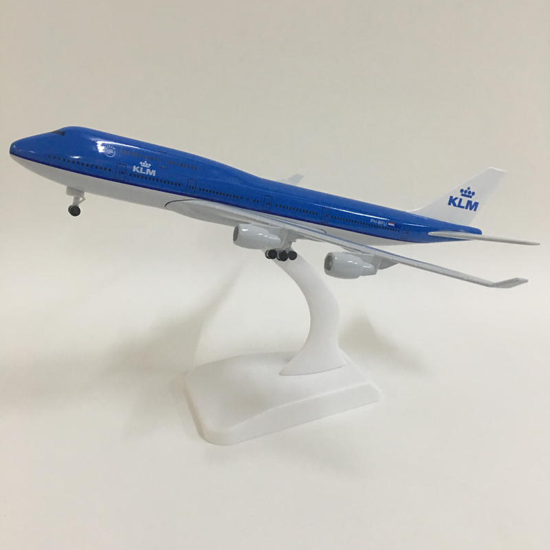 JASON TUTU 20cm KLM Royal Dutch  Boeing 747 Plane Model Airplane Model Aircraft Model 1:300 Diecast Metal Planes Toys Collect