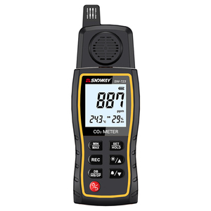 SNDWAY SW-723 Handheld Carbon Dioxide Gas Detector CO2 Meter Gas Analyzer Air Quality Analyzer 0-9999ppm Measuring Range