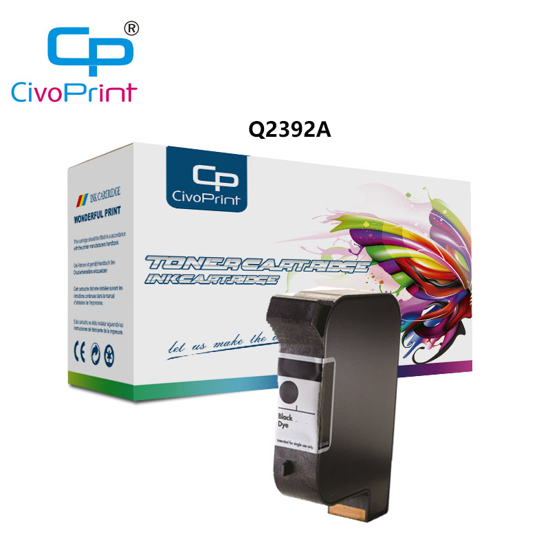 Civoprint Q2392A Compatible <font><b>HP</b></font> 2560 Black Pigment <font><b>Ink</b></font> (TIJ 2.5) (<font><b>40</b></font> ML) (Q2392A) 5 pcs image