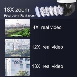 Уличная PTZ IP-камера Vstarcam 4 МП, водонепроницаемая скоростная купольная IP-камера Onvif с оптическим зумом 18X, с Wi-Fi, ИК 50 м, P2P, CCTV, аудио камера видеонаблюдения