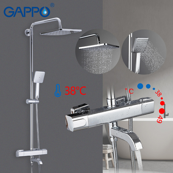 GAPPO Shower Faucets thermostatic bathroom shower mixer shower faucet bath faucet wall mounted rainfall mixer tap shower set цена 2017