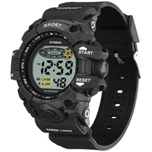 For 10-18 years Kid Military Digital Watch Sport Colorful Led Luminous Alarm Clo