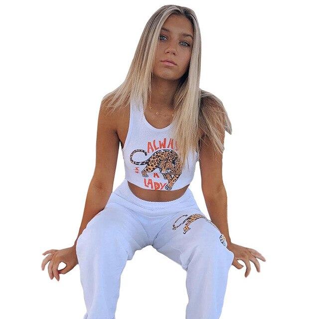 קיץ מקרית סגנון לבן סרוג צמרות נשים קיץ 2020 streetwear אפוד פשוט הדפסת יבול חולצות בסיסי tees mujer 5