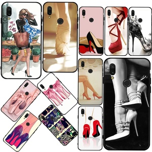 High heels shoes ballerina New super hot phone case For Redmi K20 K30 9A 9C Note 4x 5 Pro soft shell