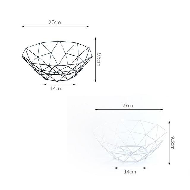Kitchen Basket Container Bowl Metal Wire Basket Kitchen Drain Rack Fruit Vegetable Storage Holder Snack Tray Storage Bowl 6