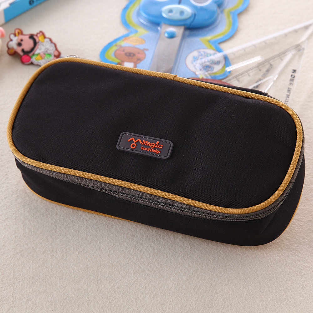 #20 # Trousse Scolaire 大容量多機能キャンバス鉛筆ケースバッグ収納オーガ Trousse Scolaire Stylo