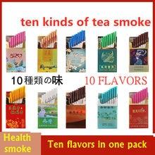 Authentic tea smoke whole cigar, non tobacco cigarette, mint flavor, men's jasmine tea substitute, no nicotine