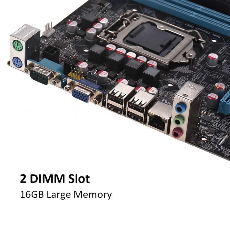 لوحة أم H55 Lga1156 للكمبيوتر Ddr3 تدعم I3 I5 I7 Cpu لوحة رئيسية للحاسوب لوحة رئيسية