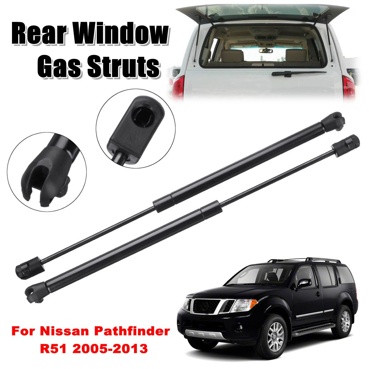 2X Rear Window Glass Strut Struts Support Bar Gas Sring 90460ZL90A For Nissan Pathfinder R51 2005 2006 2007 2008 2009 - 2013