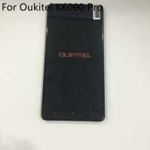 "Used Touch screen +LCD display + Frame For Oukitel K6000 Pro 5.5"" FHD 1920x1080 MT6753 Octa Core Free Shipping(China)"