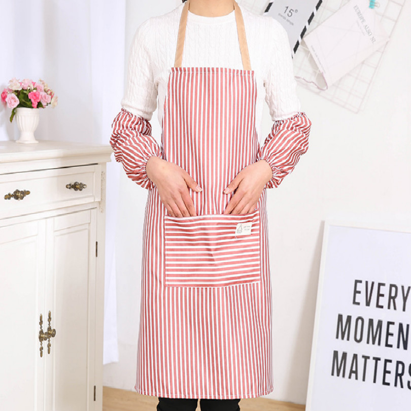 Home Cleaning Kitchen Sexy Waterproof Oversleeves Waterproof Sleeves Arm Oversleeve With Apron Protect Oil Kitchen