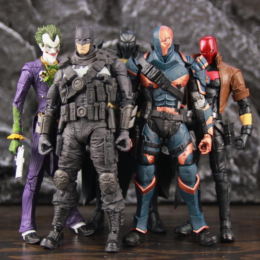 Экшн-фигурки DC Multiverse AZ BAT Grim Knight arкхэм Джокер Deathstroke Red Mood Man, 7 дюймов, Оригинальная кукла МакФарлейн, подержанные игрушки