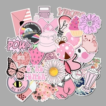 50pcs Vsco Girl Stickers Waterproof Skateboard Scrapbook Suitcase Pink Sticker Pack Animal Laptop Racing Kid Stiker For Children cheap HTTUYA CN(Origin) 0 01cm 5-10cm Stickers Toys for Children Classic Toys Baby Toys Kids Toys Vsco Girl Stickers Vsco Stickers Laptop Stickers Sticker
