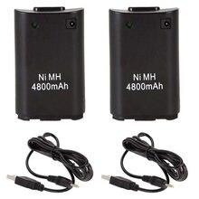 Аккумуляторная батарея 4800 мАч для геймпадов xbox 360 2 шт