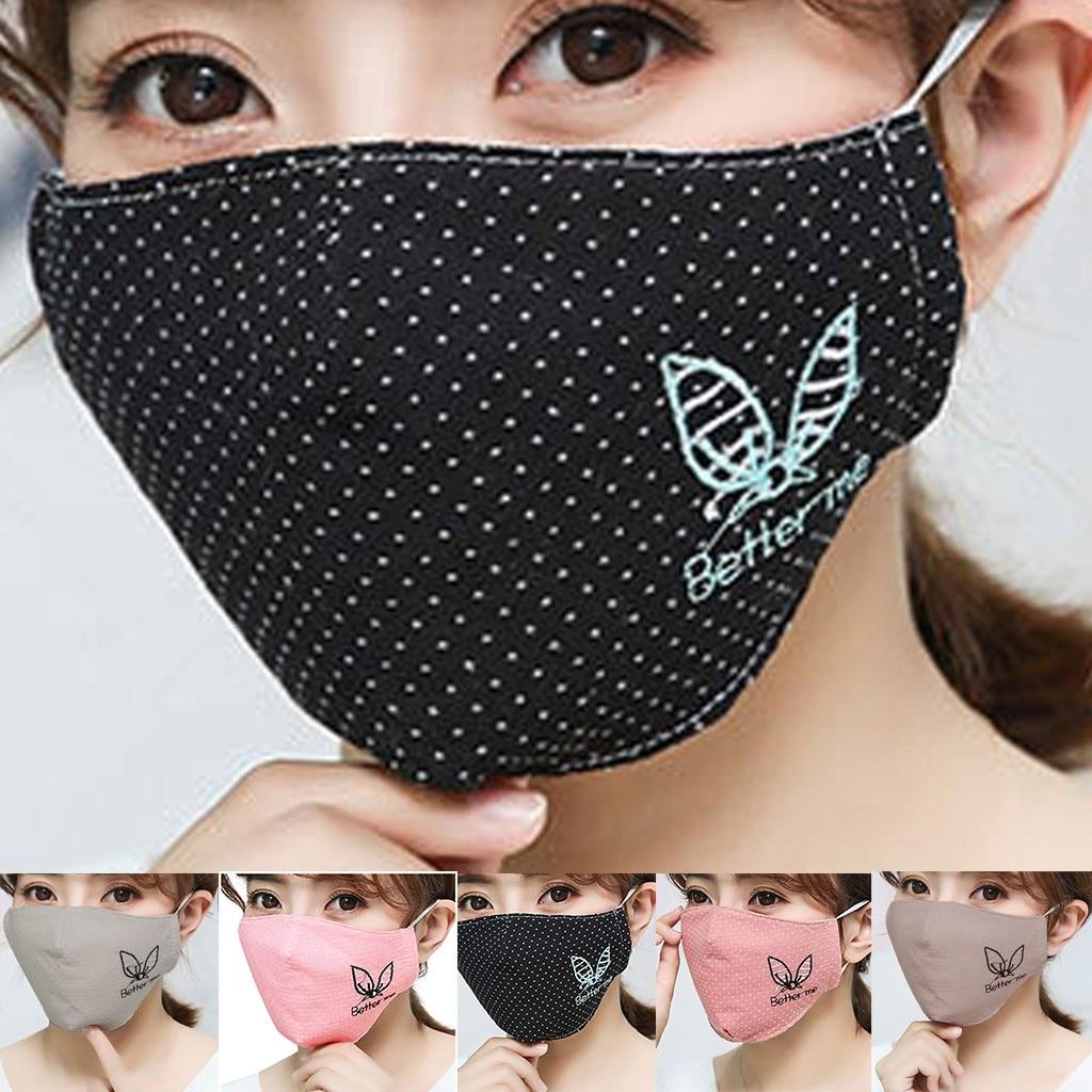 Unisex Cotton Dustproof Mouth Face Mask Anime Cartoon Women Men Seamless Muffle Mouth Face Masks Keep Warm Face Masks Cover