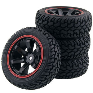 Image 1 - RC 701A 8019 Rubber Tire&Plastic Wheel Rim For HSP HPI 1/16 On Road Rally Car
