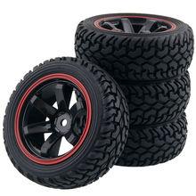 Резиновая шина RC 701A 8019 и пластиковый обод колеса для автомобиля HSP HPI 1/16 на дороге ралли