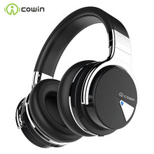 COWIN E7[Upgraded] Active Noise Cancelling Headphones Bluetooth Headphones Wireless Headset Over Ear 30 Hours Playtime with Mic cheap Dynamic CN(Origin) Wireless+Wired 85dB 90mW for Video Game Common Headphone For Mobile Phone HiFi Headphone Sport Line Type