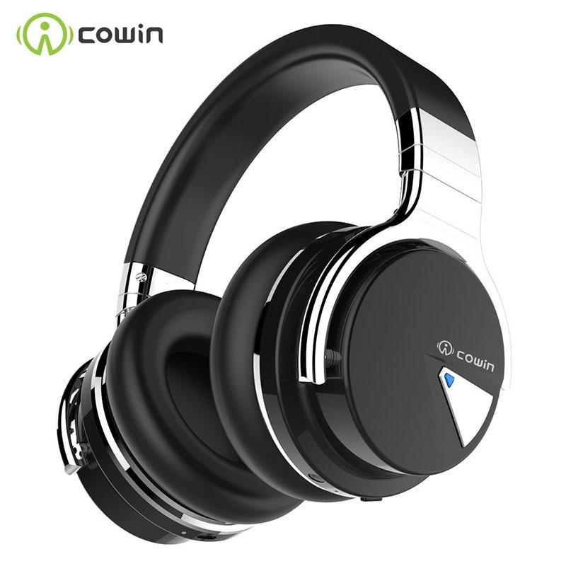 COWIN E7 [модернизированные] наушники с активным шумоподавлением, Bluetooth наушники, беспроводная гарнитура, над ухом, 30 часов воспроизведения с ми...