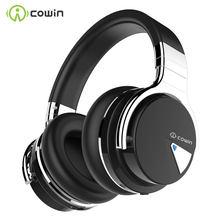 Cowin e7 [atualizado] cancelamento de ruído ativo fones de ouvido bluetooth fones de ouvido sem fio fone de ouvido sobre a orelha 30 horas playtime com microfone