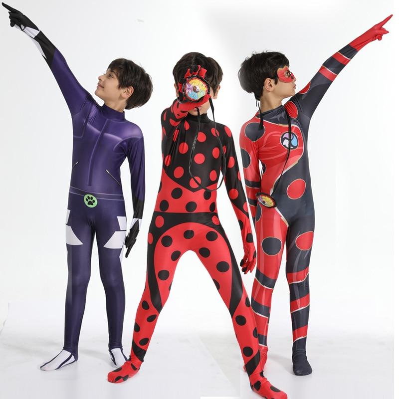 Déguisement femme bug cosplay reine des abeilles costumes pour enfants enfants anime renard Cosplay Noir chat Halloween Zentai body