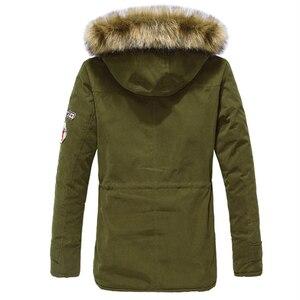 Image 5 - Parka erkekler palto kış ceket erkekler Slim kalınlaşmak kürk kapşonlu dış giyim erkek sıcak tutan kaban rahat katı marka giyim artı boyutu S 4XL