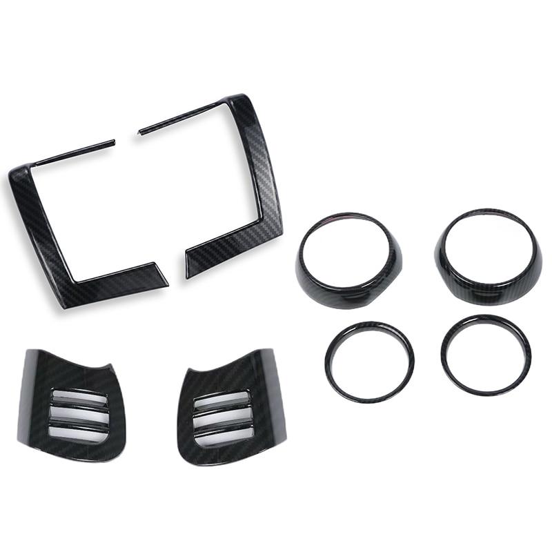 8Pcs Dash Air Vent Cover for BMW MINI Cooper F55 F56 F57 Carbon Fiber Interior Mouldings Auto Air Outlet Trims Stickers