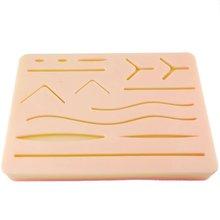 Kit de treinamento de sutura da pele almofada kit de treinamento de sutura almofada de trauma acessórios para a prática e uso de treinamento