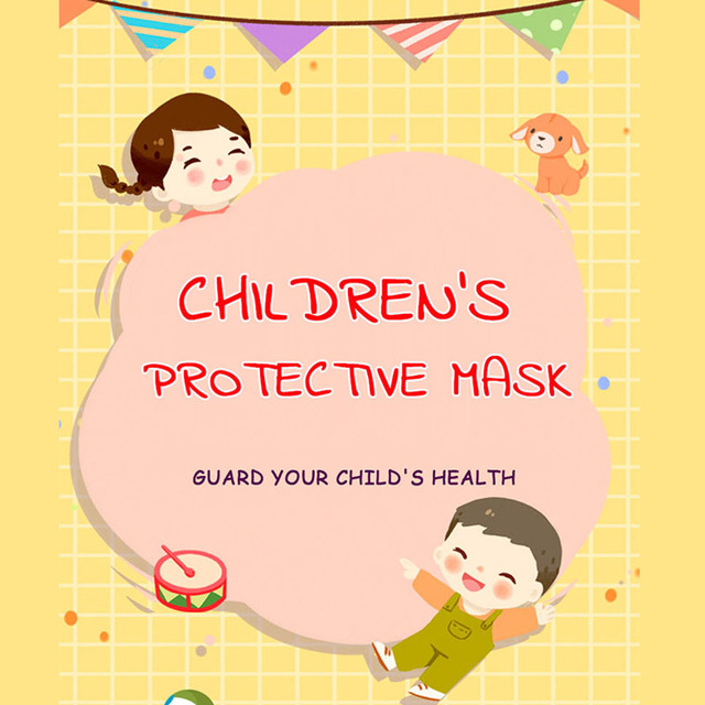 Cartoon Kids Disposable Face Masks 50pcs 3 Layer Filter Dust Breathable Children's Protective Mouth Mask Earloop Fast Delievry 5