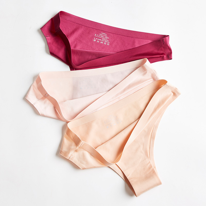 M-3XL Panties For Women Ice Silk G-string Seamless Underwear Female Casual Thongs Ladies Plus Size Underpants Women Intimates