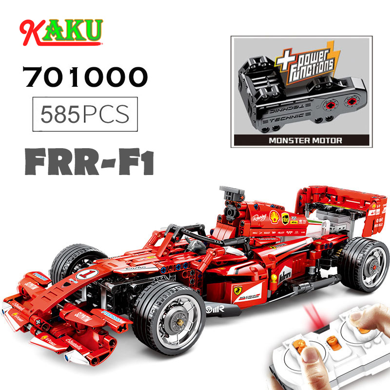 FRR-F1 Children RC Car Building Blocks Toys 2.4GHz Remote Control Racing Toys Kids DIY Sports Car Toys Compatible Duplos Technic image