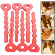 6 Pcs Magic Sponge Rambut Lembut Atlet Curling Putra Roller Strip Heatless Roll Alat(China)