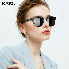 Vintage Round Sunglasses Women Fashion Color Film Lens UV Protection Mirror Polarized Half Frame Eyewear Men Classic