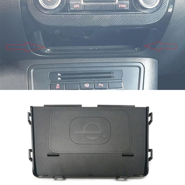 Dla Volkswagen Tiguan MK1 2012 2013 2014 2015 2016 bezprzewodowa ładowarka samochodowa QI ładowarka do telefonu ładowanie akcesoriów do telefonu