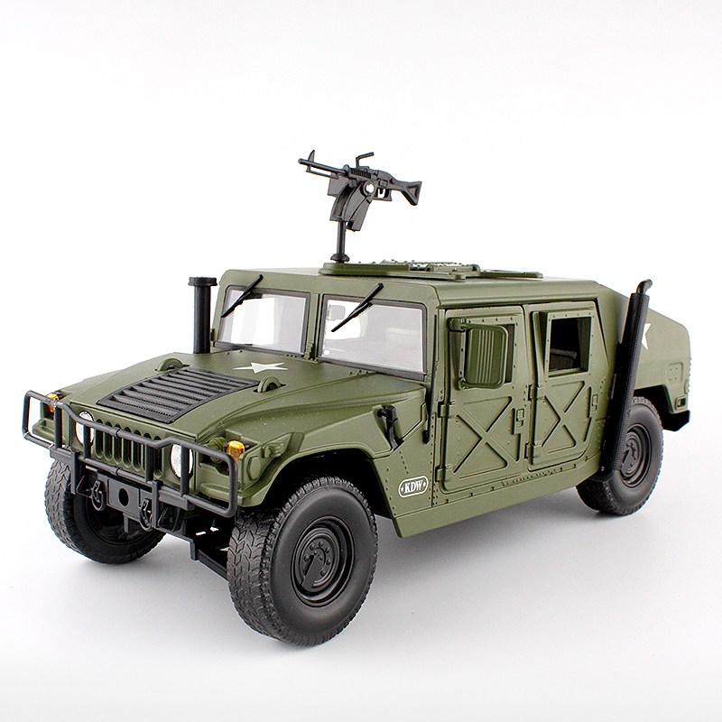 Alloy <font><b>Diecast</b></font> big Hummer Tactical Vehicle <font><b>1:18</b></font> Military Armored <font><b>Car</b></font> <font><b>Model</b></font> with 5 Door Opened Hobby collectible Toy For Kids gift image