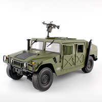 Alloy Diecast big Hummer Tactical Vehicle 1:18 Military Armored Car Model with 5 Door Opened Hobby collectible Toy For Kids gift