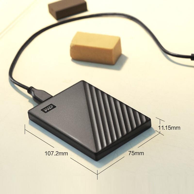 WD My Passport внешний жесткий диск USB 3,0 1 ТБ 2 ТБ 4 ТБ 5 ТБ Портативный зашифрованный корпус переносного жесткого диска высокоскоростной внешнее за...