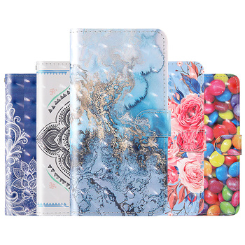 3D Painted Wallet Leather Case For Xiaomi Redmi Redmi Note 9 Pro Max 9 8T 8 7S 8A 7A 10X 4G MI Note 10 CC9 Pro Flip Phone Cover Accessories Phone Covers