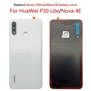 Image 2 - עבור Huawei P30 Lite סוללה כיסוי נובה 4e אחורי זכוכית דלת פנל מקרה עבור Huawei P30 Lite סוללה כיסוי + מצלמה עדשת להחליף